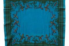 Τραπεζομάντηλο υφαντό με μινωικό μοτίβο χελιδονόψαρα, 1924-1940 (σχεδιασμός), βαμβάκι, ιδιωτική συλλογή