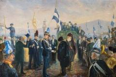 Η τελετή της Ένωσης της Κρήτης με την Ελλάδα, 1913, λάδι σε καμβά, ιδιωτική συλλογή