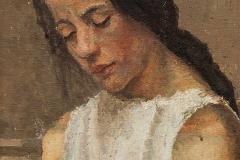Κορίτσι που κεντά, 1912-1915, λάδι σε καμβά, ιδιωτική συλλογή