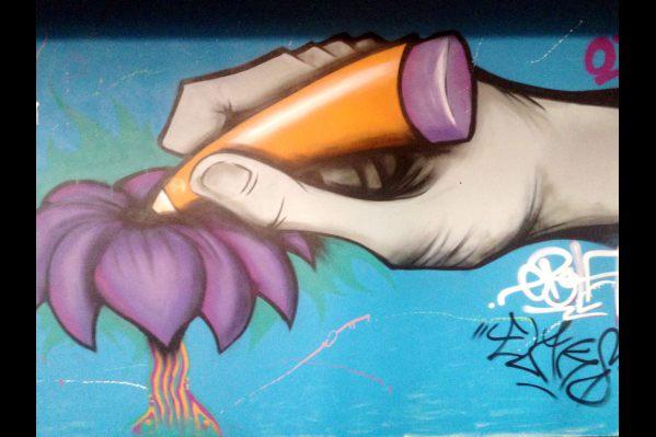 Graffiti parking chania