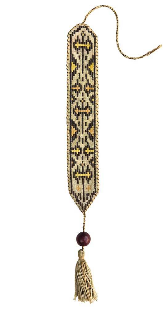 Σελιδοδείκτης υφαντός με μινωικό μοτίβο διπλού πέλεκυ, βαμβάκι, ιδιωτική συλλογή